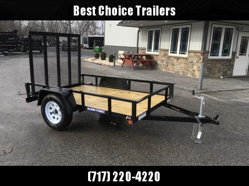 2018 Sure-Trac 5x8' Angle Iron Utility Trailer 2990# GVW * CLEARANCE - FREE ALUMINUM WHEELS