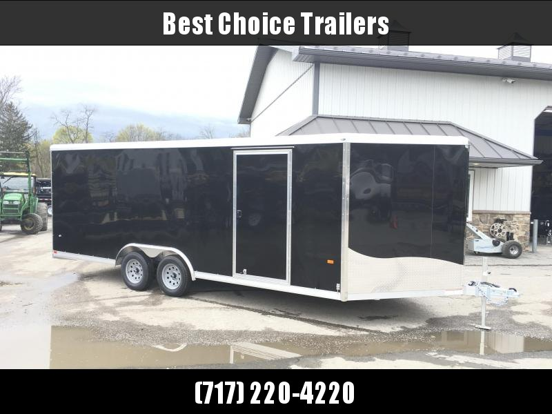 2018 NEO 8.5x20' NCBR Aluminum Round Top Enclosed Car Hauler Trailer 7000# GVW NCB2085R * NUDO FLOOR * ALUMINUM WHEELS
