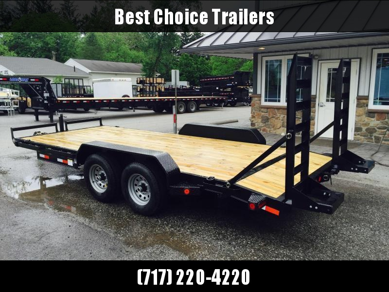 2019 Ironbull 7x16' Lowboy Equipment Trailer 9990# GVW STAND UP RAMPS