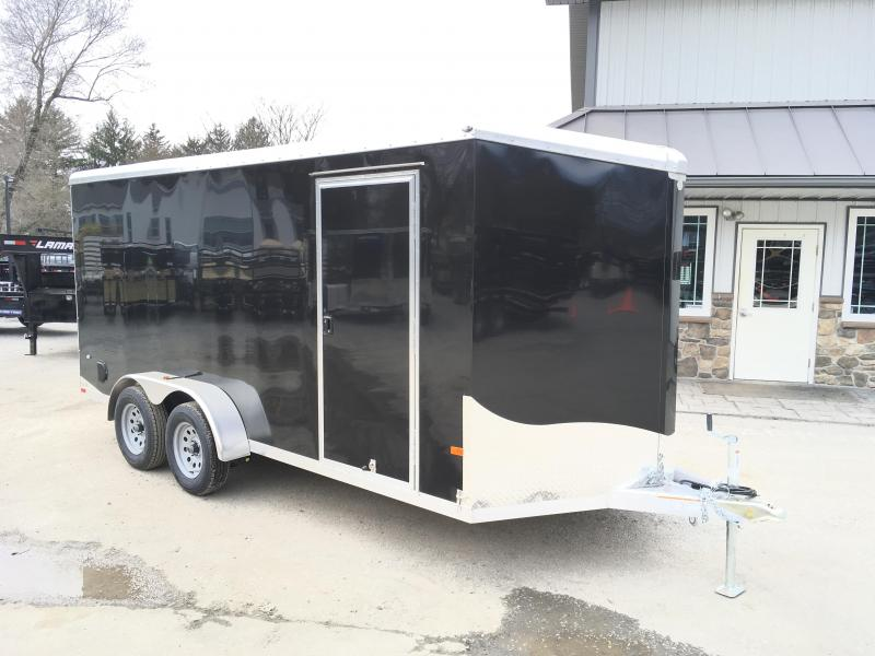 "2018 Neo 7x16 NAVR Aluminum Enclosed Cargo Trailer * RAMP DOOR * BLACK * 6'6"" HEIGHT"