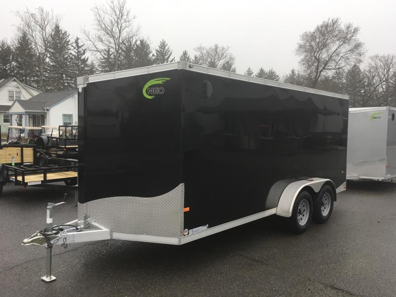 2018 Neo 7x16 NAVF Aluminum Enclosed Cargo Trailer * RAMP DOOR * BLACK