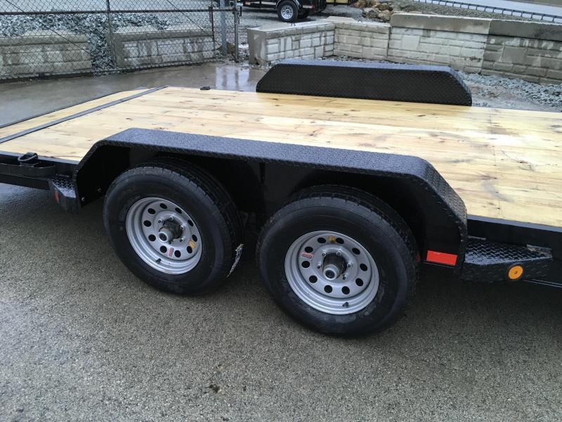 2018 Iron Bull 7x18' Wood Deck Car Trailer 9990# GVW * FREE SPARE TIRE