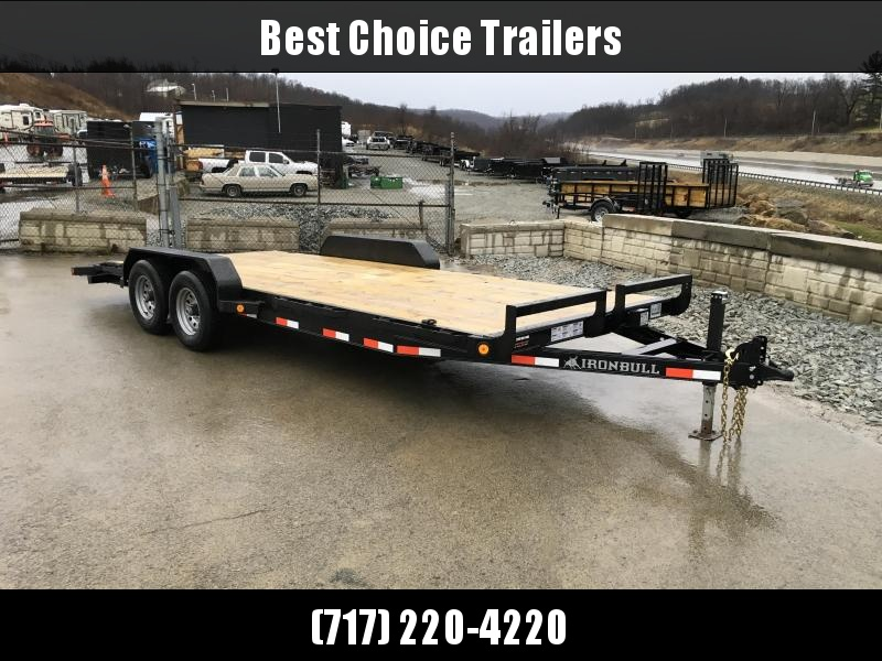 2018 Iron Bull 7x18' Wood Deck Car Trailer 9990# GVW * CLEARANCE - FREE AUMINUM WHEELS