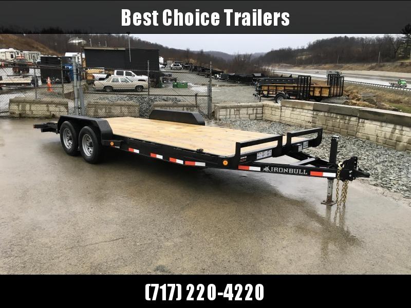 2018 Iron Bull 7x18' Wood Deck Car Trailer 9990# GVW * CLEARANCE - FREE AUMINUM WHEELS