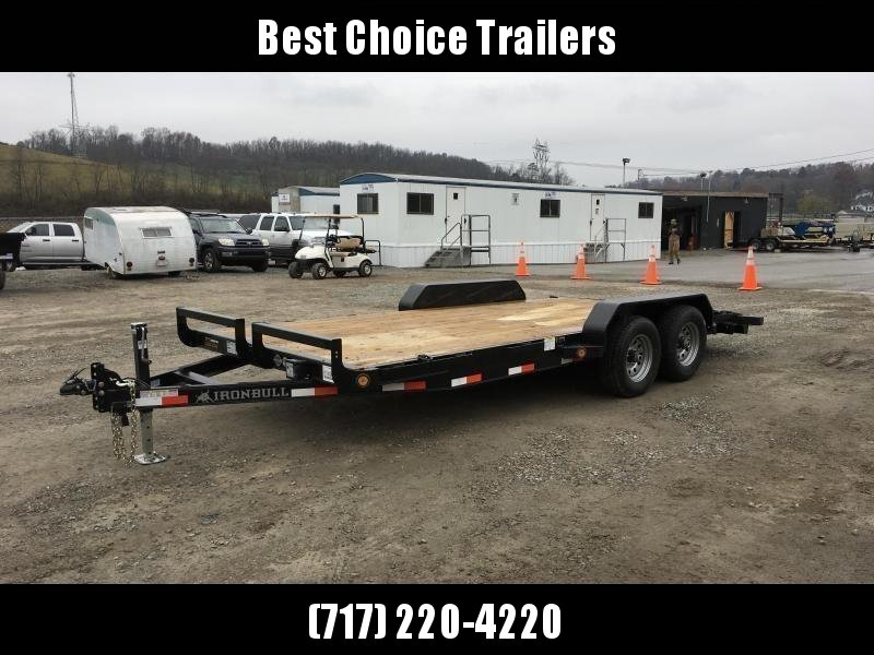 2019 Iron Bull 7x16' Wood Deck Car Trailer 9990# GVW
