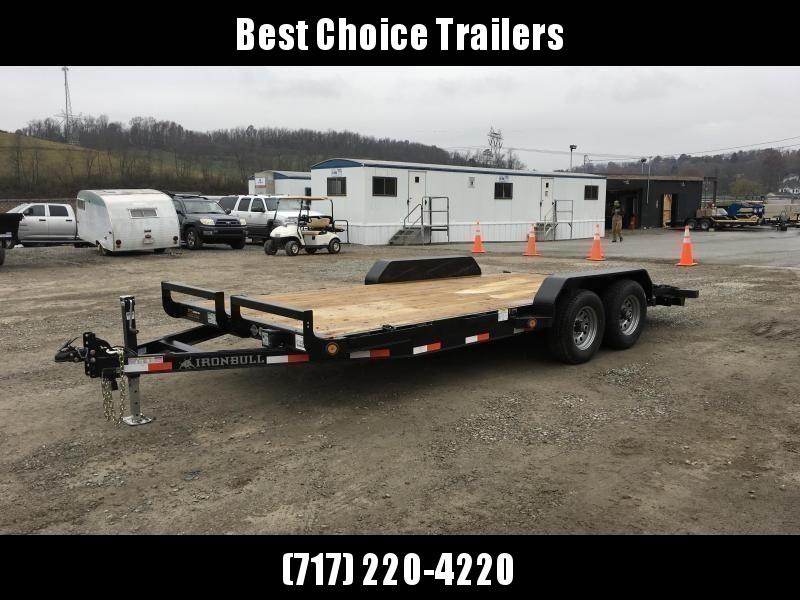 2019 Iron Bull 7x16' Wood Deck Car Trailer 9990# GVW