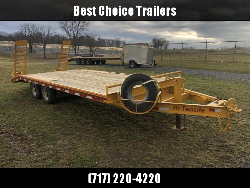 USED Hudson Beavertail Deckover Flatbed Trailer 12000# * COMPLETELY REFURBISHED