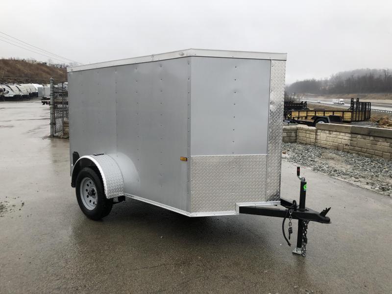 2019 Rock Solid 5x8' Enclosed Cargo Trailer 2990# GVW - SILVER