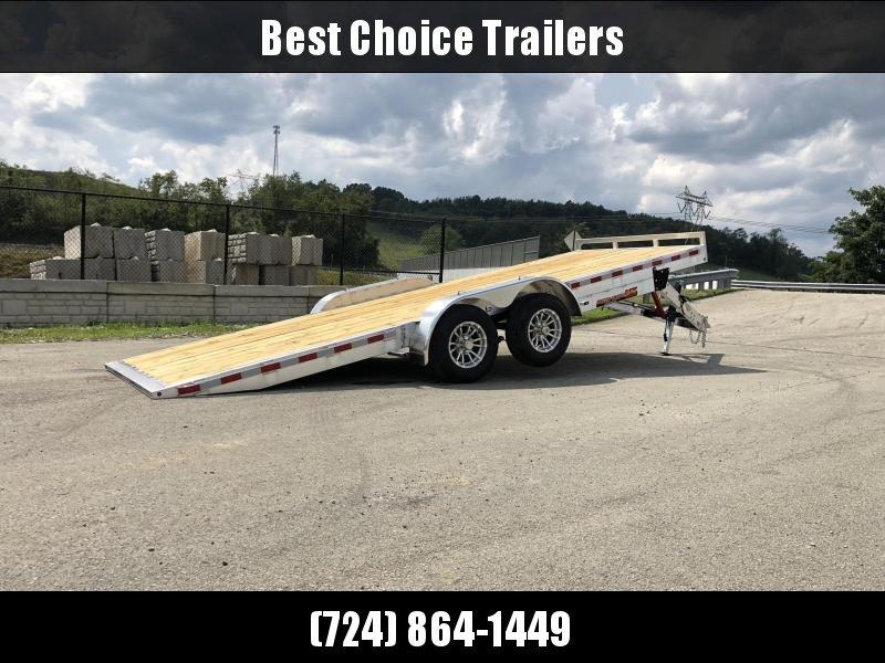 """2019 H&H 7x20' MXA Aluminum Manual Tilt Car Hauler Trailer  9990# GVW * ALUMINUM WHEELS * HEAVY DUTY 8"""" FRAME * REMOVABLE FENDERS"""
