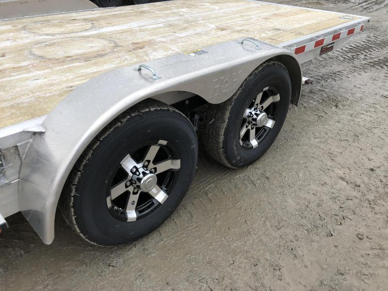 2019 H&H 7x20' Manual Tilt Aluminum Car Hauler 9990# GVW * 4 SWIVEL D-RINGS * 4 EXTRA STAKE POCKETS