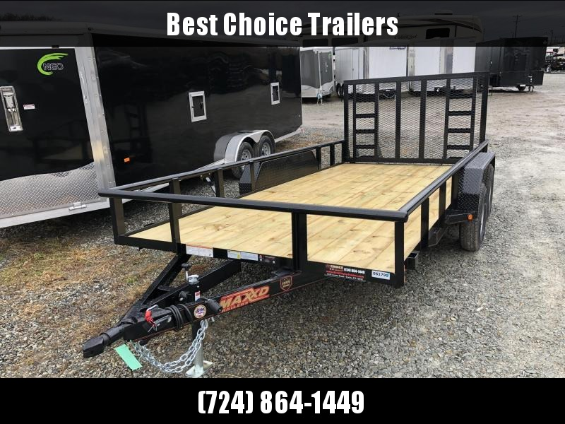 2019 MAXXD 7x16' Tandem Axle Utility Landscape Trailer 7000# GVW U3X8316 * PIPE TOP * SPRING ASSIST * HD GATE MODEL * EQUIPMENT FENDERS