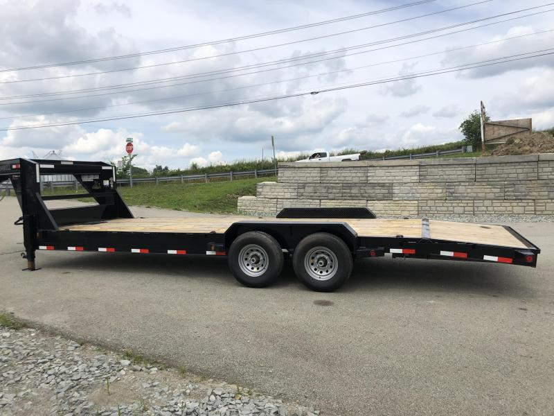 2018 Ironbull 7x24' Gooseneck Car Hauler Equipment Trailer 14000# * WINCH PLATE * CLEARANCE - FREE ALUMINUM WHEELS