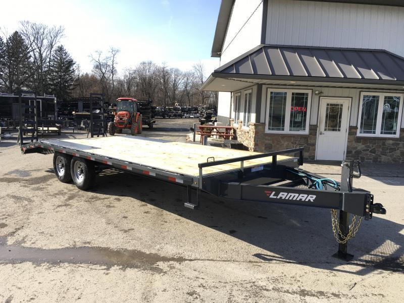 2019 Lamar F8 102x20' Beavertail Deckover Trailer 14000# GVW * STAND UP RAMPS