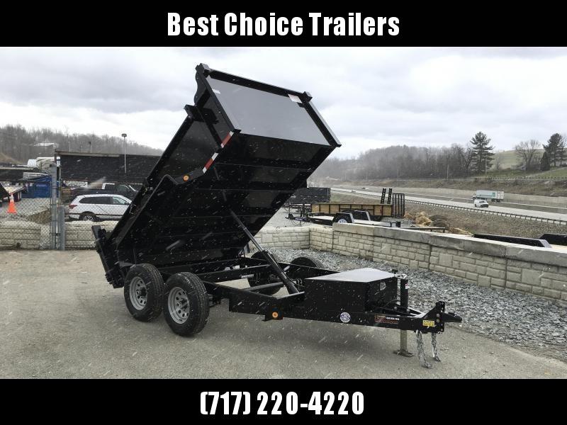 2019 QSA 6x10' Low Profile SD Dump Trailer 9850# GVW * 2' HIGH SIDES * OVERSIZE TOOLBOX * DROP LEG JACK * FRONT/REAR/ BULKHEAD