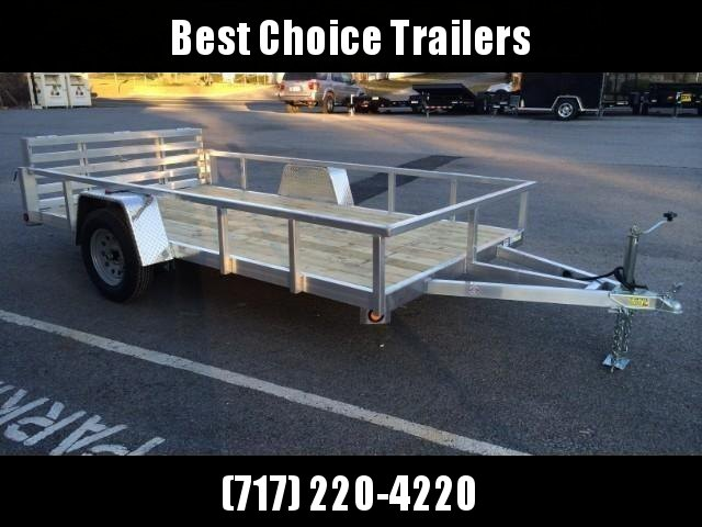 2019 QSA 6x12 Deluxe Aluminum Utility Trailer 2990# * DROP AXLES * HD TOPRAIL * BI-FOLD GATE * INTEGRATED FRAME * TUBE FRAME * CLEARANCE - FREE ALUMINUM WHEELS