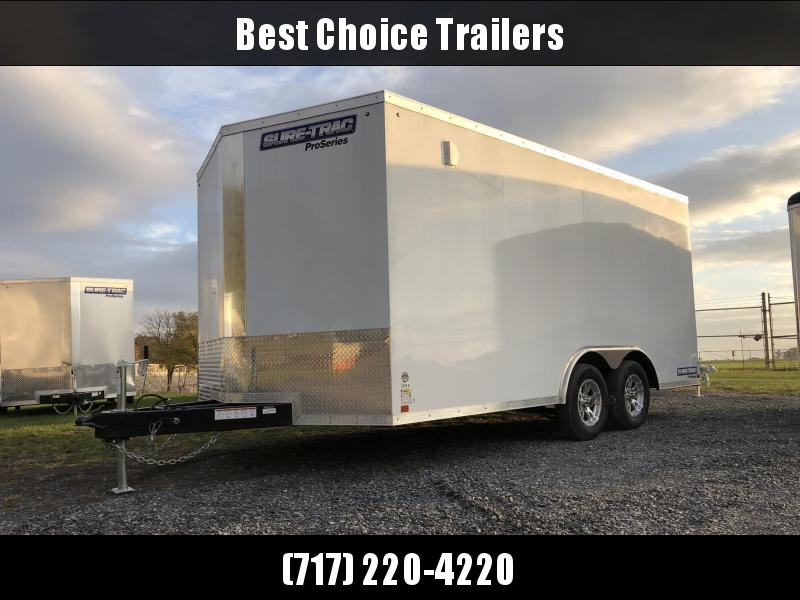 2019 Sure-Trac 8.5x16' Enclosed Cargo Trailer 7000# GVW * WHITE