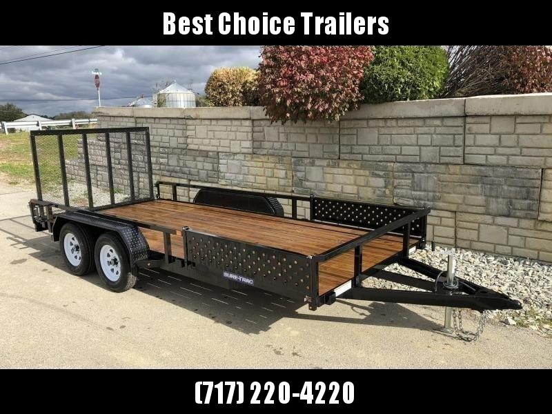 2019 Sure-Trac 7x16' Tube Top ATV Side Ramps Utility Landscape Trailer 7000# GVW