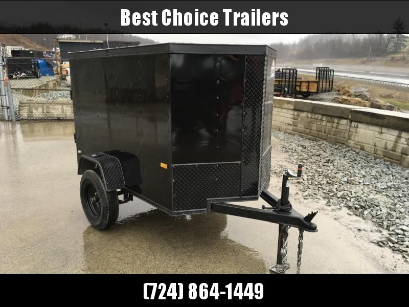 2018 Rock Solid 4x6' Enclosed Cargo Trailer 1900# GVW * BLACKOUT