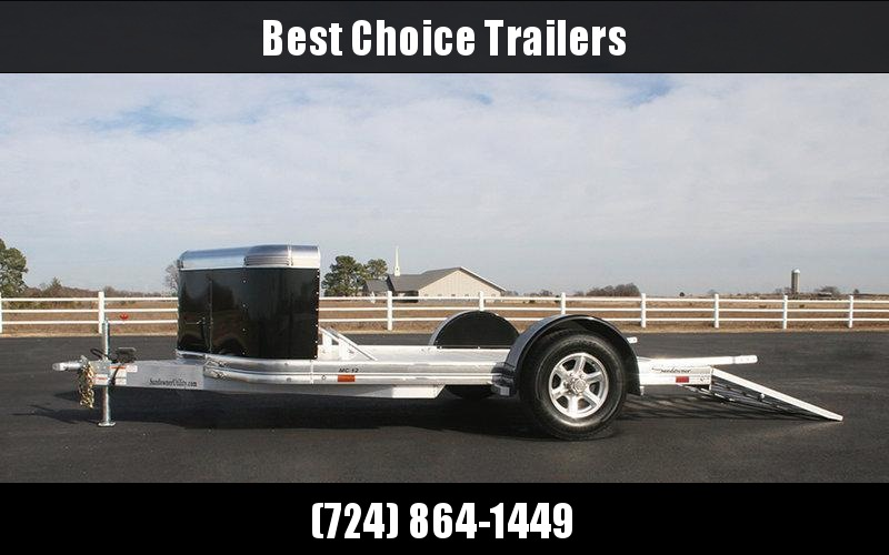 2018 Sundowner 7x12' All Aluminum Deluxe Motorcycle Trailer 4025# GVW MC12 * ALL ALUMINUM * EXTRUDED FLOOR * PAINTED FENDERS * SPARE TIRE * BRAKES in PA