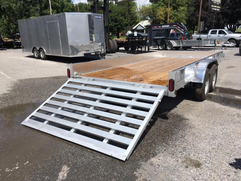 2018 QSA 7x16' 7000# GVW Aluminum Landscape Utility Trailer ATP SIDES * CLEARANCE - FREE ALUMINUM WHEELS