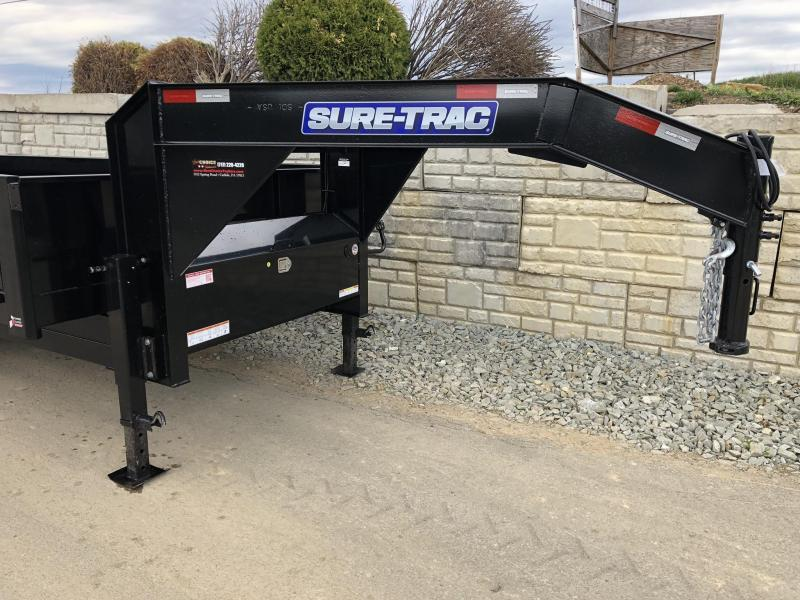 2019 Sure-Trac 8x16' HD Gooseneck Deckover Dump Trailer 16000# GVW * 8000# AXLE UPGRADE * FOLD DOWN SIDES