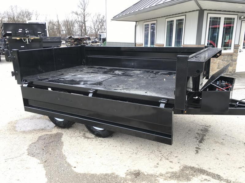 2018 Sure-Trac 6x10' SD Deckover Dump Trailer 9900# GVW * FOLD DOWN SIDES * HIGH SIDES * BARN DOORS
