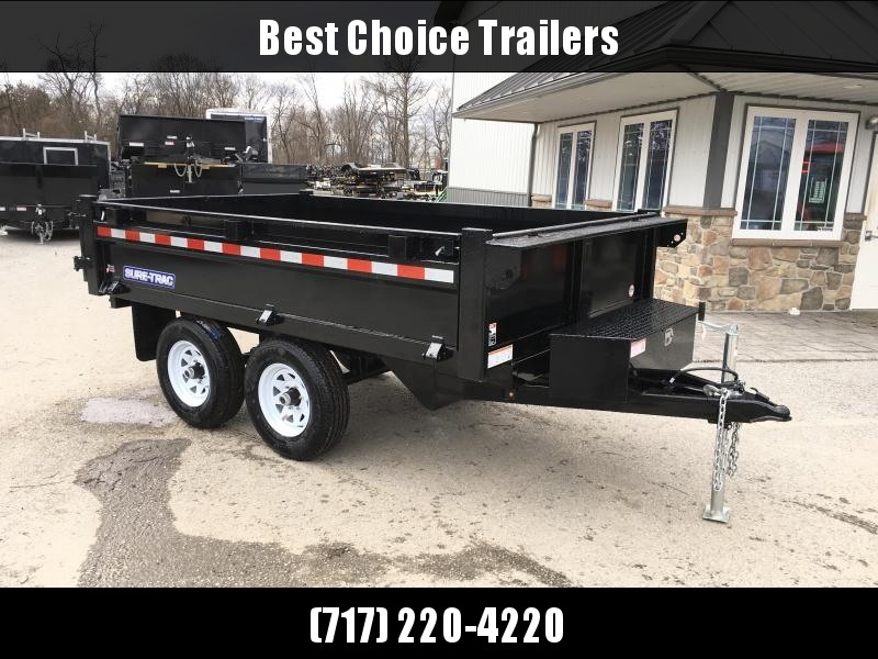 2018 Sure-Trac 6x10' SD Deckover Dump Trailer 9900# GVW * FOLD DOWN SIDES * HIGH SIDES * BARN DOORS * FREE ALUMINUM WHEELS