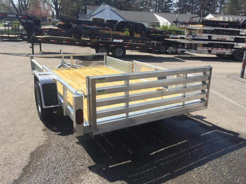 2019 QSA 7x12 Deluxe Aluminum Utility Trailer SIDE ATV RAMPS * cCLEARANCE - FREE ALUMINUM WHEELS