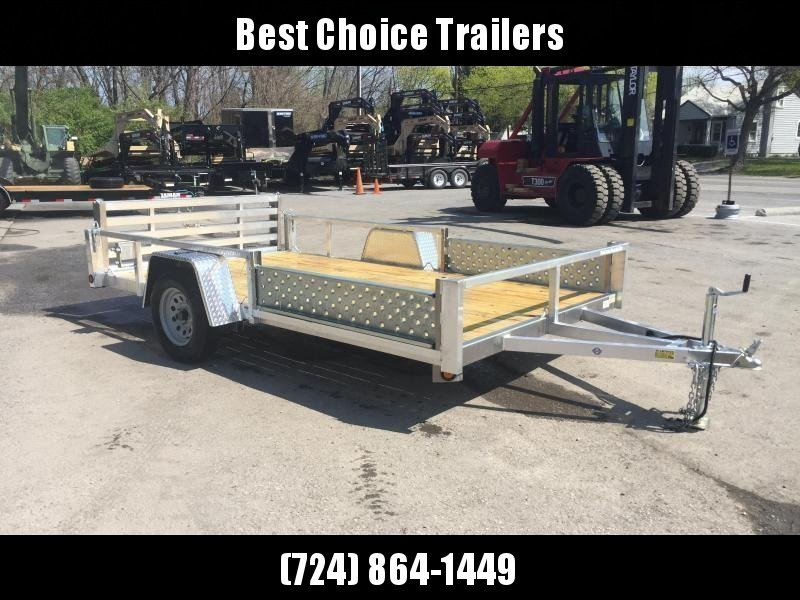 2019 QSA 7x12 Deluxe Aluminum Utility Trailer SIDE ATV RAMPS * cCLEARANCE - FREE ALUMINUM WHEELS