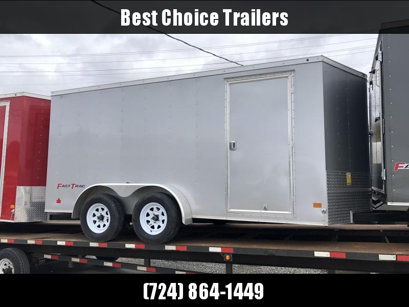 2019 Wells Cargo 7x14' Fastrac Enclosed Cargo Trailer 7000# GVW * SILVER * V-NOSE * RAMP DOOR
