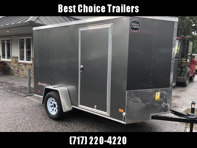 2018 Wells Cargo 6x12' Fastrac Enclosed Cargo Trailer 2990# GVW * BLACK EXTERIOR * RAMP DOOR