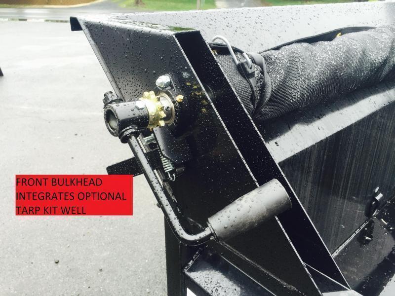 2018 Sure-Trac 7x12' Low Profile Hydraulic Dump Trailer 12000# 4' HIGH SIDES + BULKHEAD * TARP KIT