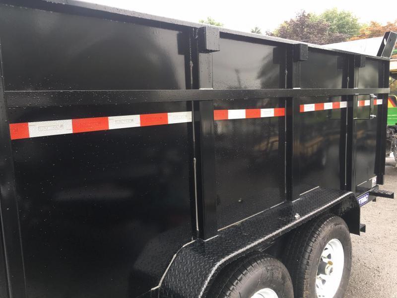 2019 Sure-Trac 7x12' Low Profile Hydraulic Dump Trailer 12000# 4' HIGH SIDES + BULKHEAD