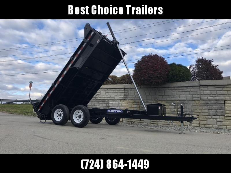 2019 Sure-Trac 6x12' Dump Trailer 9900# GVW * TELESCOPIC HOIST UPGRADE * ADJUSTABLE COUPLER