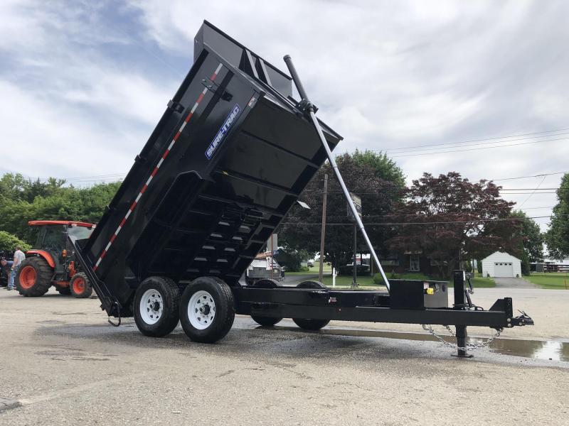 2019 Sure-Trac 7x12' Low Profile Hydraulic Dump Trailer 14000# * 4' HIGH SIDES + BULKHEAD * TELESCOPIC HOIST * 12K JACK