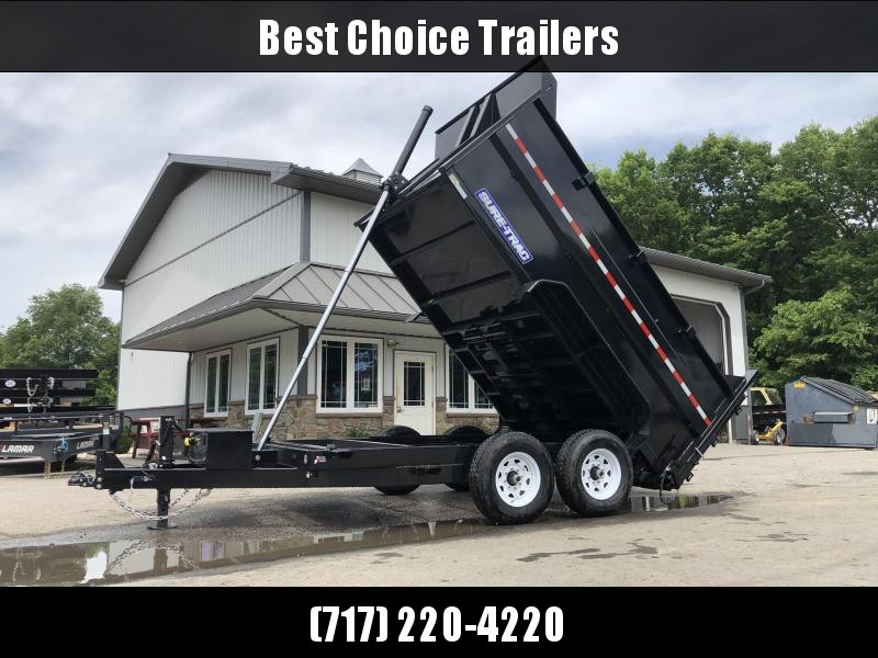 2019 Sure-Trac 7x12' Low Profile Hydraulic Dump Trailer 14000# * 4' HIGH SIDES + BULKHEAD * TELESCOPIC HOIST * 12K JACK