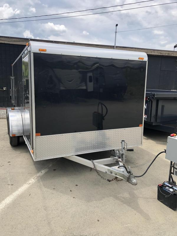 USED 2006 Thule 7X14' Aluminum Enclosed Cargo Trailer 7000# GVW * MOTORCYCLE PACKAGE * LOADED