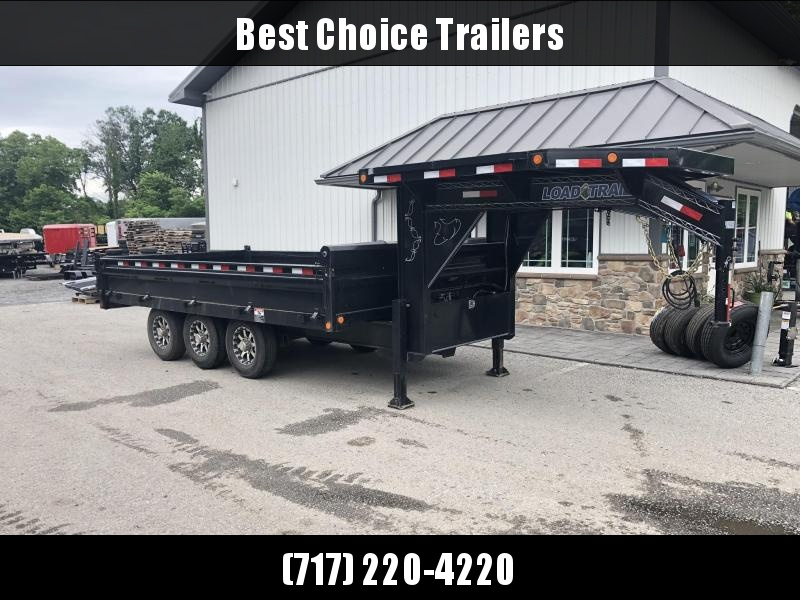 USED 2017 Load Trail 8x16' Gooseneck Deckover Dump Trailer * LOADED WITH OPTIONS in Ashburn, VA