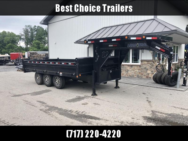 USED 2017 Load Trail 8x16' Gooseneck Deckover Dump Trailer * LOADED WITH OPTIONS