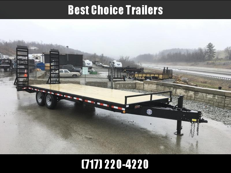 2019 QSA 102x18+4 HD LP Beavertail Deckover Trailer 12000#