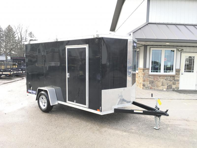 2018 Sure-Trac 6x12' STW Enclosed Cargo Trailer 2990# GVW * BLACK * BARN DOORS * 3 LADDER RACKS