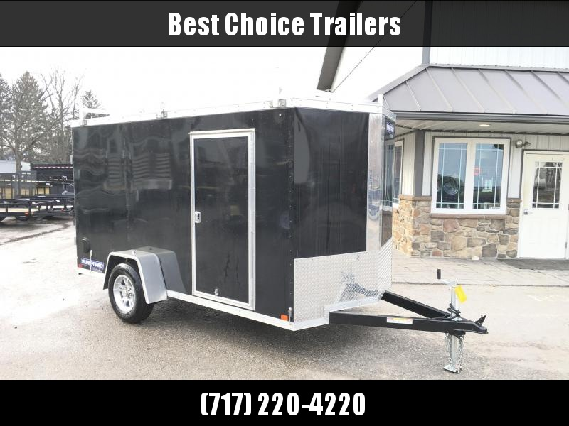 2018 Sure-Trac 6x12' STW Enclosed Cargo Trailer 2990# GVW * BLACK * BARN DOORS * 3 LADDER RACKS