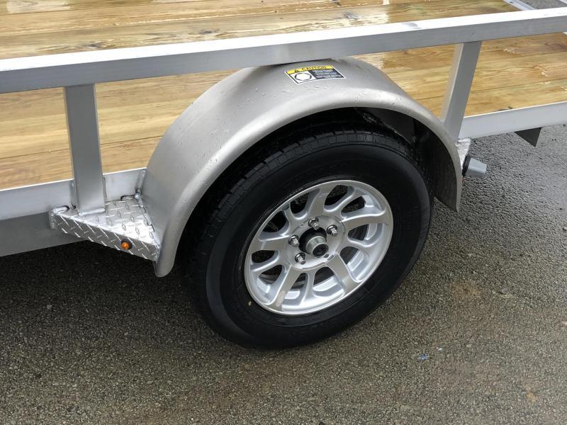 """2019 H&H 76""""x10' Aluminum Utility Trailer 2990# GVW * BI FOLD GATE"""