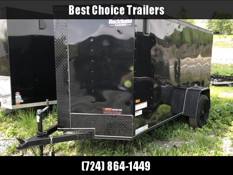 2018 Rock Solid 5x10' Enclosed Cargo Trailer 2990# GVW - BLACKOUT PACKAGE