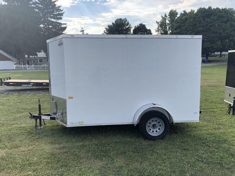 2019 Rock Solid 6x12' Enclosed Cargo Trailer 2990# GVW * WHITE * RAMP * VNOSE