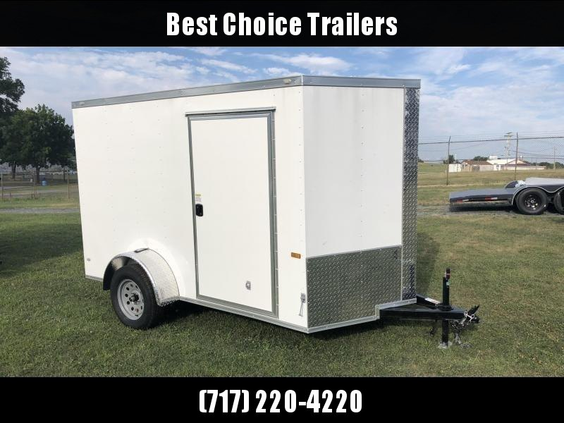2019 Rock Solid 6x12' Enclosed Cargo Trailer 2990# GVW * WHITE * RAMP * VNOSE