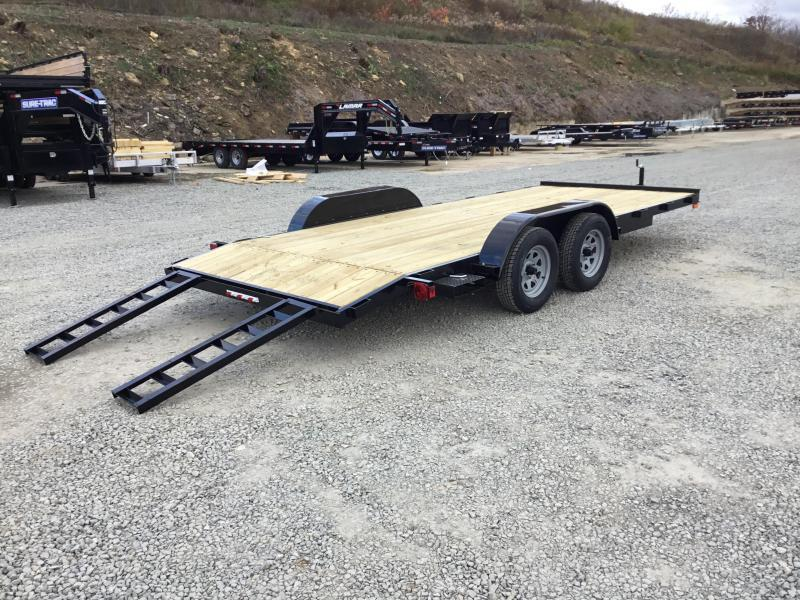 2019 AMO 7x18' Wood Deck Car Trailer 7000# GVW * CLEARANCE