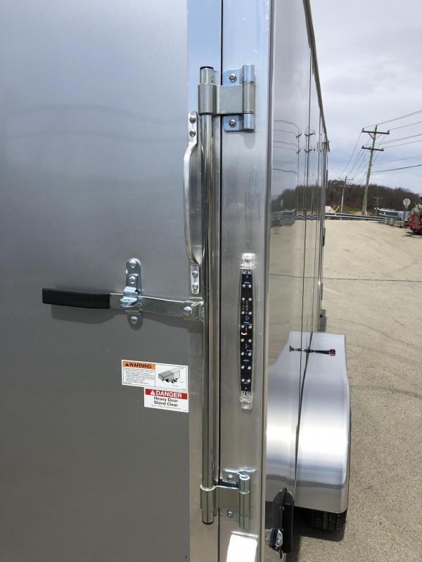 2019 Neo 7x16 NAVR Aluminum Enclosed Cargo Trailer * RAMP DOOR * ALUMINUM WHEELS * PLASTIC VENTS * PRO STAB JACKS