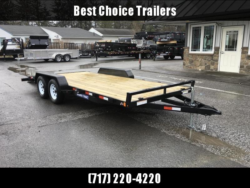 2018 Sure-Trac CHW 7x18 7000# Wood Deck Car Hauler * CLEARANCE