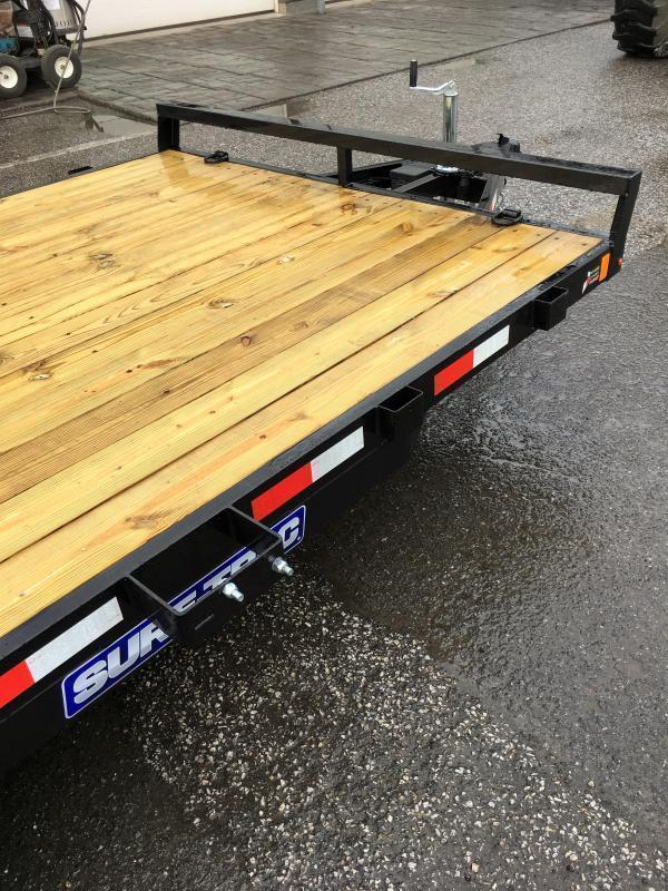 2018 Sure-Trac CHW 7x18 7000# Wood Deck Car Hauler * FREE SPARE TIRE
